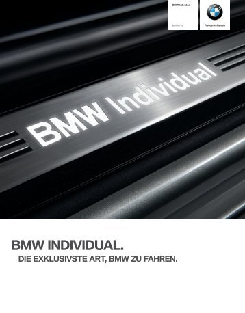 Bmw individual. - BMW.com