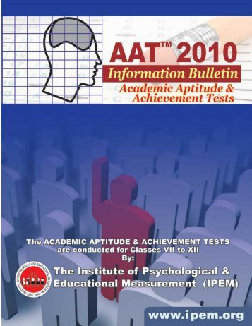The Academic Aptitude and Achievement Test - Institute of ...