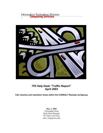 "ITD Help Desk ""Traffic Report"" April 2003 - NC State Remedy ..."