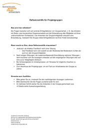 Reflexionshilfe für Projektgruppen - Gemeinsam gesunde Schule ...