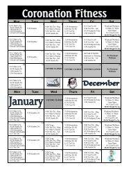 Fitness Schedule - Niagara Falls, Ontario, Canada