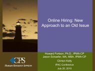 Online Hiring: New Approach to an Old Issue