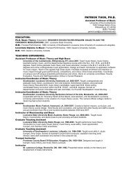 Dr. Tuck's Resume' - University of the Cumberlands