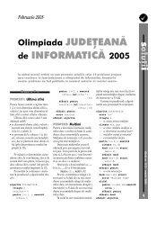 Olimpiada JUDEŢEANĂ de INFORMATICĂ 2005 - GInfo