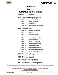 Indexes for the Tool Catalog