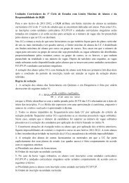Unidades Curriculares do 1º Ciclo de Estudos com Limite Máximo ...