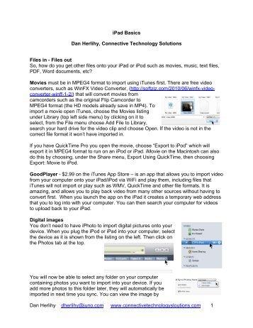 iPad Basics Handout