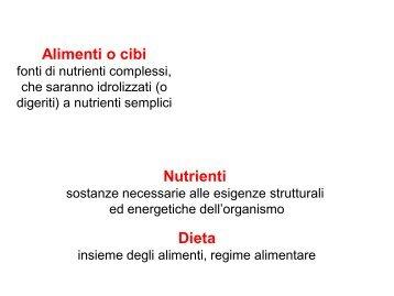 Nutrienti Dieta Alimenti o cibi