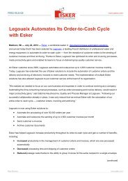 Legoueix Automates Its Order-to-Cash Cycle with Esker