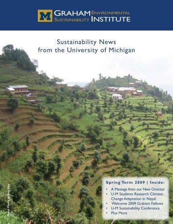 Spring 2009 - Graham Sustainability Institute - University of Michigan