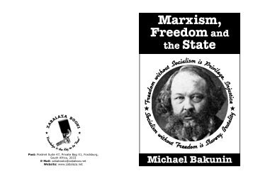 Mikhail Bakunin - Marxism Freedom and the State.pdf
