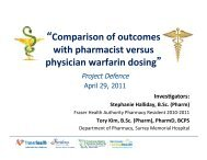 Comparison of outcomes with pharmacist versus physician warfarin ...
