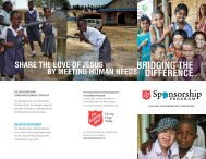 BRIDGING THE DIFFERENCE - The Salvation Army | Salvationist.ca