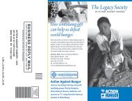 Download the Action Against Hunger Legacy Society brochure.