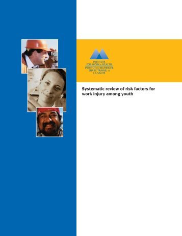 Systematic review of risk factors for work injury among youth
