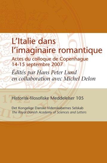 L'Italie dans l'imaginaire romantique - KU.edoc