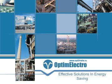 Effective Solutions In Energy Saving