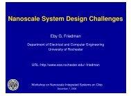 Nanoscale System Design Challenges - WorkShop