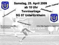 """""""Deutschland spielt Tennis"""" bei der SG Untertürkheim - WTB"""