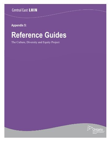 CDE Appendix 5 Reference Guides - Central East Local Health ...