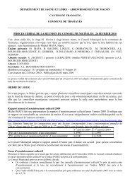 Rapport du 26 février 2010 - Commune de Tramayes