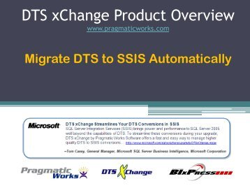 Download DTS xChange Product Overview (.pdf) - Pragmatic Works