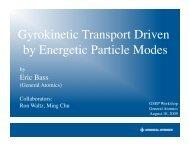 Gyrokinetic Simulations of Enhanced Alpha Transport by De ...