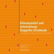 Klimawandel und Entwicklung: Doppelte Dividende - Deza - admin.ch