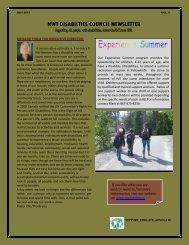 2012 June Newsletter, Vol 2 - NWT Disabilities Council