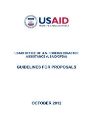 USAID/OFDA Guidelines for Proposals - 2012