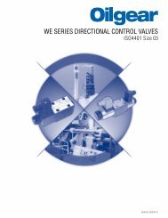 WE SERIES DIRECTIONAL CONTROL VALVES – The Oilgear ...