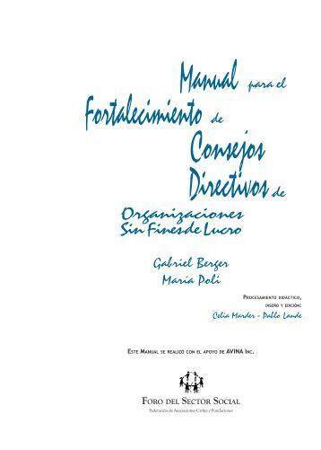 manual para el fortalecimiento de consejos directivos - Gestión Social
