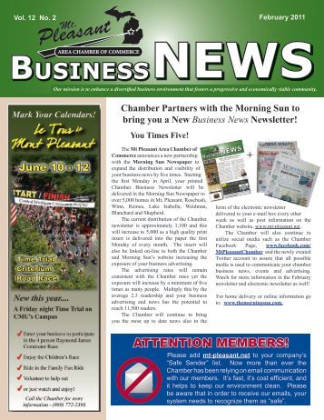 BUSINESSNEWS - Mt. Pleasant Area Chamber of Commerce