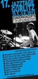 17-te Dni Jazzu Görlitz 2012: Program - Jazztage Görlitz