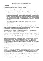 Proposed changes to the allocation process - Blackpool Council