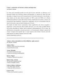 Crítica y comentarios de literatura cubana contemporánea de ...