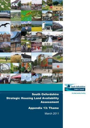Appendix 13 Thame - South Oxfordshire District Council