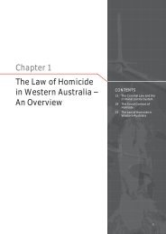 Chapter 1 The Law of Homicide in Western Australia – An Overview