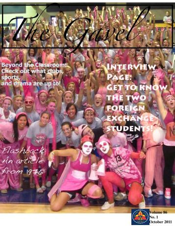October 2011 Issue - Notre Dame Academy