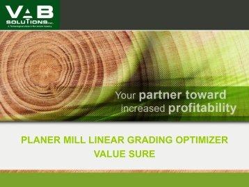 innovative technology solution planer mill linear ... - VAB Solutions