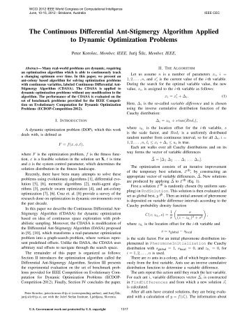 The Continuous Differential Ant-Stigmergy Algorithm Applied to ...