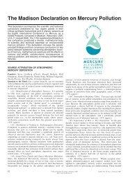 The Madison Declaration on Mercury Pollution - Allen Press