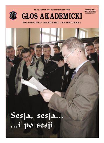 G£OS AKADEMICKI Sesja, sesja… - Wojskowa Akademia Techniczna