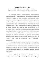 Repertorio delle riviste letterarie del Novecento italiano - Catalogo ...