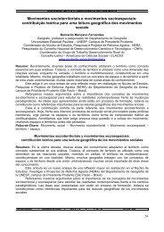 Movimentos socioterritoriais e movimentos socioespaciais ... - UNESP