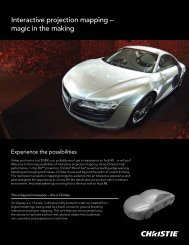 Christie Projection Mapping on Audi R8 - Christie Digital Systems