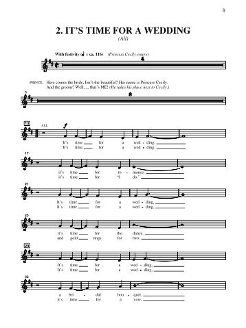 2. IT'S TIME FOR A WEDDING - Clarus Music, Ltd.