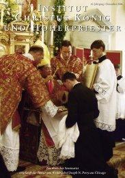 Dezember 2006 - Institut Christus König und Hoherpriester