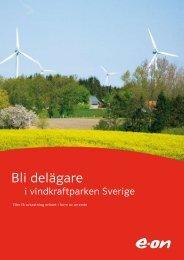 Bli delägare i vindkraftparken Sverige - E-on