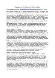 Michel Bernard et Michael De Cock - Culture & Démocratie